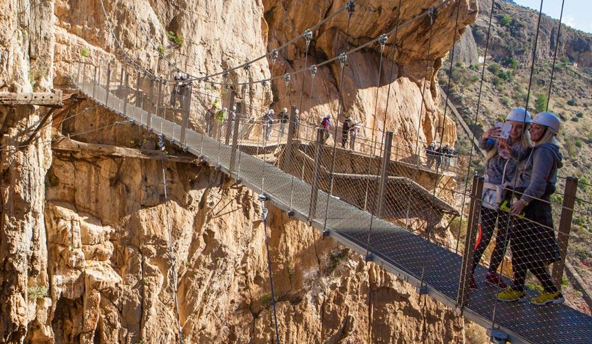 Enestående eventyrrejse til Caminito del Rey