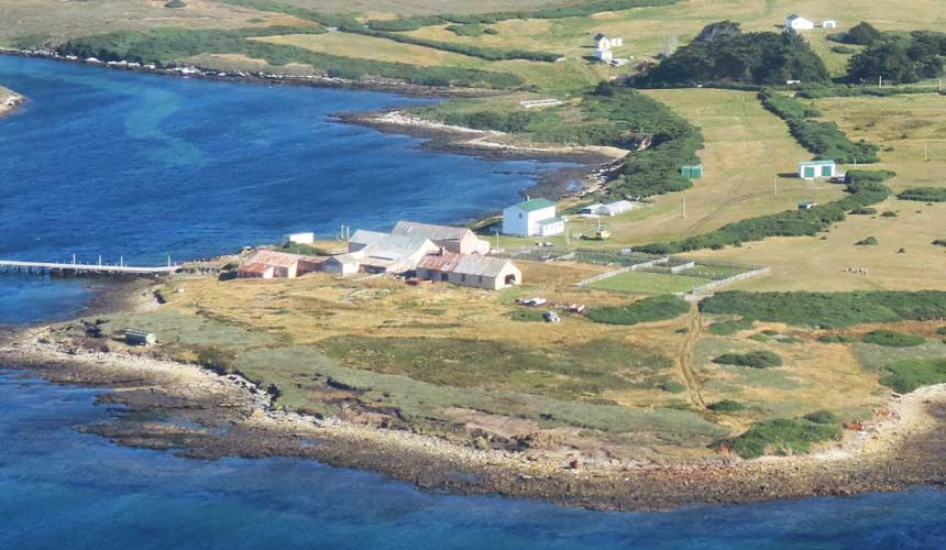 Luftfoto af øen