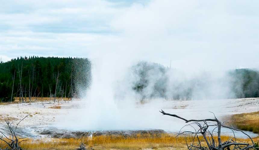 Geyser i Yellowstone